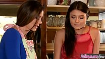 Mom (Adria Rae) fucks step daughter (Kendra Lust) in the kitchen - Twistys