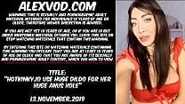 Hotkinkyjo use huge dildo for her huge anus hole