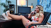Round Big Tits Girl (Cali Carter02) Get Banged In Office clip-17