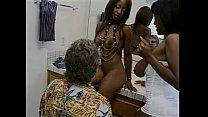 Busty ebony girls fucking a lucky old men. Free cams on xxxaim.com