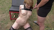 Hot wife Nicole pissed on by plenty of men Vorschaubild