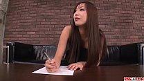 Satsuki Aoyama sucks cock hard then swallows big time - More at Pissjp.com