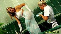 Kinky Fun With  An Bath Full Of Slime  Slime