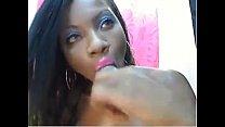 HD Ebony latina Webcam teasing thumbnail