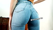 Incredibly Beautiful Perfect Ass Teen in Tight Blue Jeans