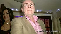 Babe with 60 yr  old man at Radlett swingers p lett swingers party