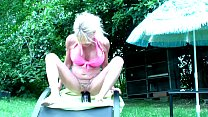 Annabelle Dangel bottle insersion in the garden thumbnail