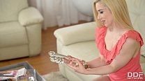 Blonde Babe Threesome SexToy Salesman Gets Blow...