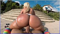 BANGBROS - Big Booty Blondie Fesser Riding Nick Moreno's Fat Cock In Europe's Thumb