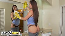 BANGBROS - Lina Maid Evie Ols Cleans The Kitchen And Jmac's Big Cock - 9Club.Top