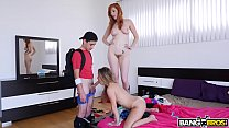 BANGBROS - Stepmom Threesome Lilly Ford, Lauren...