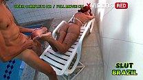 Coroa gostosa casada fodendo com o marido e o amigo do filho na piscina - ( Melissa Devassa e Liu Gang ) thumbnail