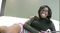 Ebony babe gets cumshot's Thumb