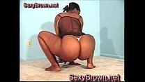 Black girl shaking in very tiny thong