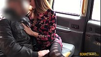 Sweety customer rides a massive dick driver in taxi