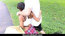 ExxxtraSmall - Petite Ebony Bounces On A Stiff Big Cock Image
