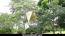 ExxxtraSmall - Petite Ebony Bounces On A Stiff Big Cock - 69VClub.Com