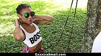 ExxxtraSmall - Petite Ebony Bounces On A Stiff Big Cock preview image