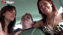 FUN MOVIES Public Amateur Threesome in the car's Thumb