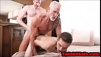 Boy spitroasted by 2 mature men- Twink4Sale.com