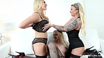 Vanessa Cage Lesbian Threesome