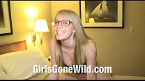 Girls Gone Wild Young Horny Blonde Girl in Jean Skirt Gets Naked porn thumbnail