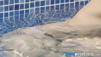 Beauty erotically fucked in her pool and she loves it