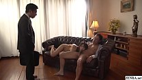 Free download video bokep Cuckolding JAV blowjob wife Saki Hatsumi Subtitled