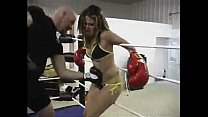 Jumping and bending by pain due to the belly punch thumbnail