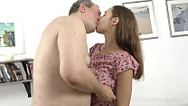 Old Goes Young - Talented cutie pleases old dick with her tongue