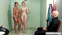 Stepdaughter on her first massage appointment - Mercedes Carrera, Alexa Grace and Derrick Pierce