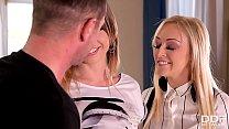 Milf teacher Amber Deen & student Vera Wonder share Daddy's big veiny cock