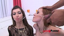 Piss drinking sluts Linda Sweet & Susan Ayn take on huge black cocks (pee swallow, DP) SZ666 Vorschaubild