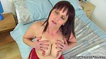 English milf Beau lets us enjoy her curvy body thumbnail