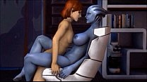 mass effect meets blue is the only colour porn image