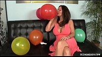 MILF Finds Blowjob Fun Amidst Birthday Preparations thumbnail