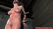Bonded submissive getting flogged