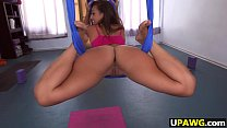 Fat ass girl Kelsi Monroe swinging on dick