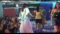 Lots of gangbang on dance floor - Teen creampie compilation thumbnail