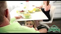 Sucking Daddy's Cock Under Table In Front Of Mom Cali Sparks POV Vorschaubild