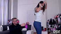 Blow Out Deal - Salesgirl Gets Fucked Deep on B...