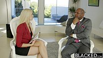 BLACKED Business Blonde Anikka Albrite Ass Fucked By a BBC thumbnail