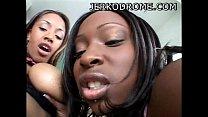 Skyy Black and Ayana Angel hot ebony threesome