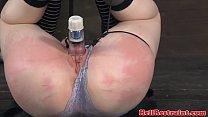 Jackknifed subs pussy lips stimulated Thumbnail