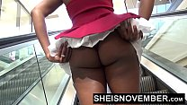 Msnovember Wedgie Big Booty Ass Black Girl Panties In Butt HD