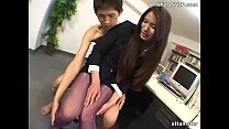 Curvy teen Alice Ozawa gets an asian dildo in her pussy