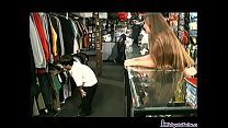 Hot Teen fucks a midget in a skate shop