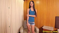 Ladyboy beauty doggystyled in tight ass preview image
