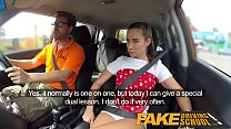 Fake Driving School Sexy horny learners secretl...