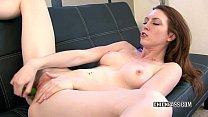 Cute coed Megan Loxx is fucking her twat with toys pornhub video